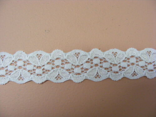 Elastic Lace White Galloon 10 metres 29050