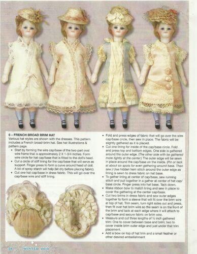 "ANTIQUE French German all bisque  DOLL Wardrobe Pattern 5/""  Mignonette"