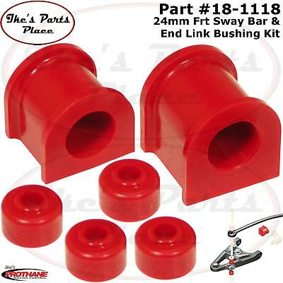 18-1117 Prothane Front 23mm Sway Bar /& End Link Bushing Insert Kit Tundra Red