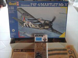 F4f-4 Martlet Mk.v, échelle 1/32, modèle Revell, pièces photodécoupées Eduard