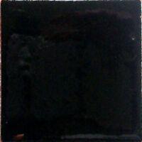 S11) Set Nine Mexican Tiles Clay Tile Solid Black Color