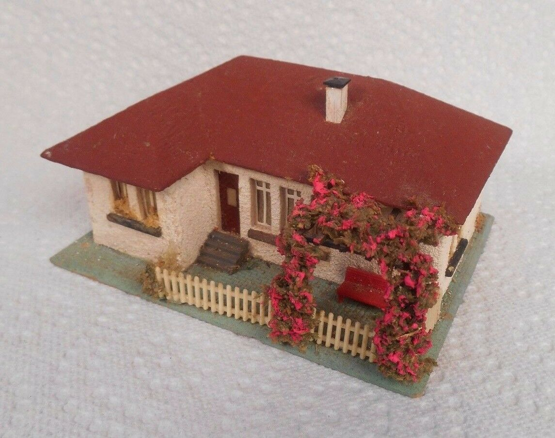 Vintage Faller HO 00 Composition Stucco House With Trellis 264