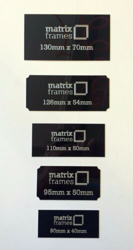 trofeos Marcos 126 X 54 mm Placa Grabada cualquier inscripción puede por suministra