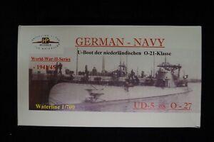 """1945 HP Models 1:700  WL niederländisches  U-Boot der O-21 Klasse  /""""O-27/"""""""