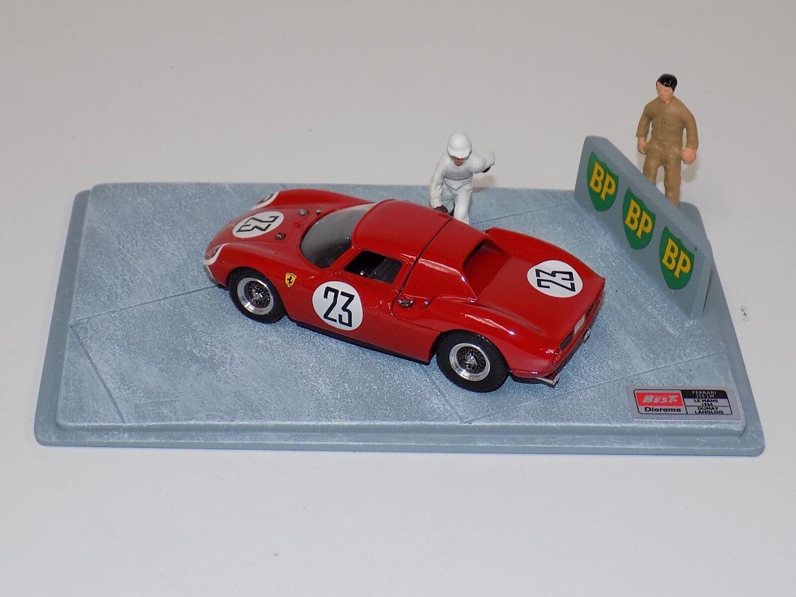 1 43 Best Model Ferrari 250 LM Car  23 from 1964 LeMans Diorama   9604