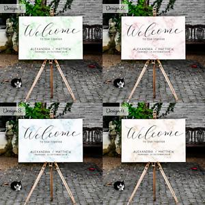 Personnalise-Mariage-inscription-bienvenue-Board-Tableau-moderne-marbre-design-A1-A2-A3