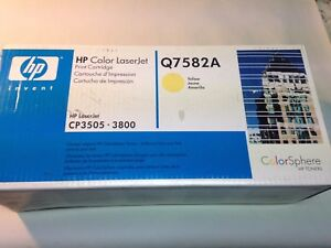 NEW-HP-Genuine-Q7582A-Yellow-Toner-Cartridge-for-LaserJet