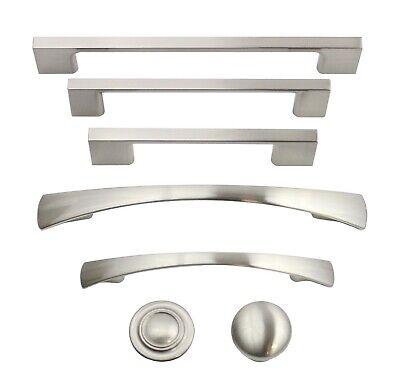 Brushed Satin Nickel Cabinet Hardware Pulls Knobs Handles ...