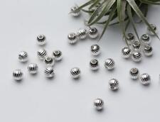 925 Sterling Silver Bright Seamless Saucer Spacer Beads Jewelry Making DIY A2711