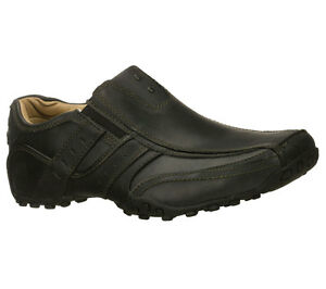 62329 black skechers shoes new slip on comfort casual