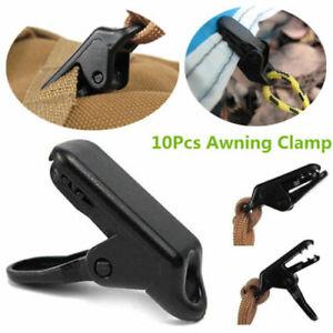 10pcs Awning Clamp Tarp Clips Snap Hangers Tent Camping Tighten Outdoor Tools