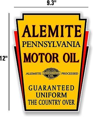 "6/"" ALEMITE MOTOR OIL GAS PUMP TANK DECAL LUBESTER DECAL STICKER"
