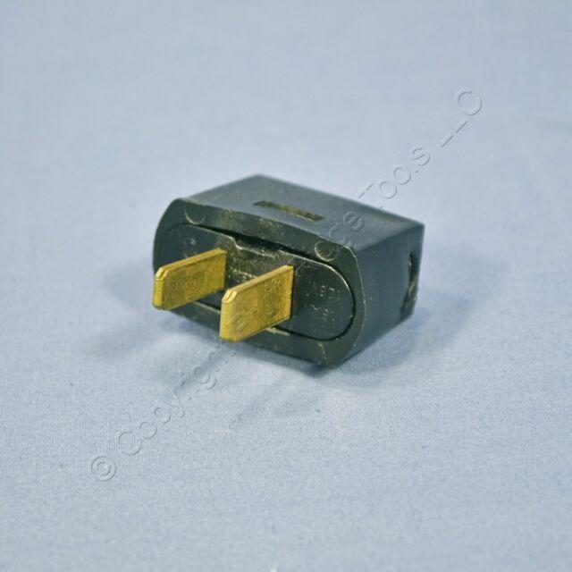 Leviton Black Residential Angle Plug Vinyl Polarized Nema 1