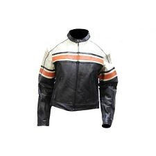 Ladies Black Soft  Leather Sleek Vented Scooter Biker Jacket Zip Out Liner