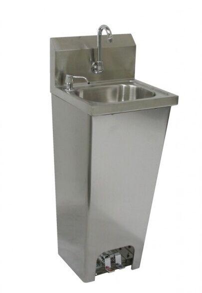 Hs 1615fg Hand Sink 16x15 W No Lead Faucet Amp Foot Pedal