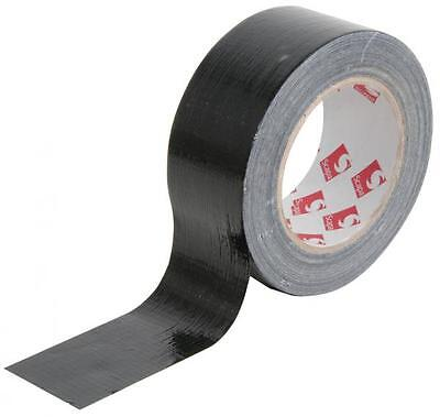 QTX 853.501 Water Resistant Easy Tear Black Gaffa Tape Medium Strength Adhesive