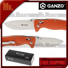 Authentic Knife GANZO G720-O   440C Steel   Axis Lock   G10   Orange