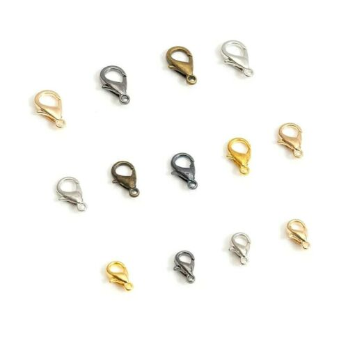 10mm Catch Lobster Clasps Claw for Keyring Hook Bracelet Findings Jewellery