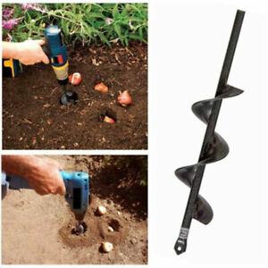 "10/"" 12/"" 18/"" Planting Auger Spiral Hole Drill Bit Garden Yard Earth Bulb Planter"