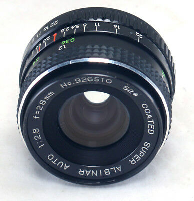 Coated 28mm Lens Vintage Pentax Super for 2 Auto 8 MC Albinar K f 7fv7YnHq