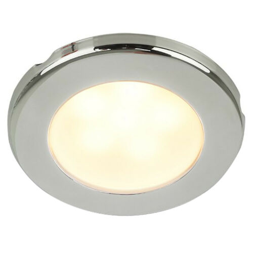 "Hella Marine EuroLED 75 3/"" Round Screw Mount Down Light Warm White LED 12V DC"