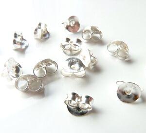 Pack of 20 Sterling Silver Butterfly Ear Earring Stud Backs (925 Stamped) ogSRjxZk