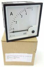 DEIF EQ96-x Dreheiseninstrument Amperemeter 0...4A x2 4/8A 504362 UNBENUTZT OVP
