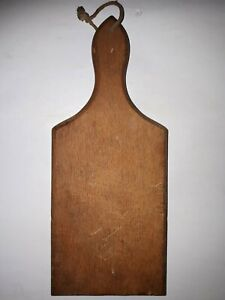 OLD-ANTIQUE-PRIMITIVE-WOODEN-WOOD-BREAD-CUTTING-BOARD-PLATE-15