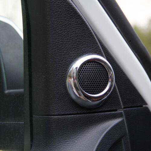 Chrome inner Front Door small speaker Cover trim for Toyota Tundra 2014-2019