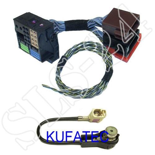 Kufatec 33777 VW Delta6 RCD 300 500 MFD2 RNS2 Umrüstadapter ISO-Quadlock Adapter