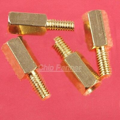 25pcs M3 Male 6mm x M3 Female 8mm Brass Standoff Spacer Hex Screws M3 8+6