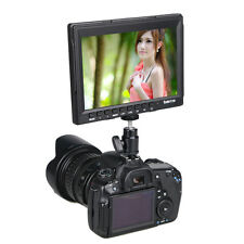 "7"" LED Ultra HD IPS 1280x800 Field Monitor HDMI DSLR Video Monitor Slim Design"