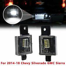 15 Led License Plate Light For Chevy Silverado Gmc Sierra 1500 2500 Hd 2014 2018