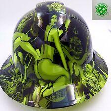 Hard Hat Full Brim Custom Hydro Dipped Osha Approved Lime Biker Babes