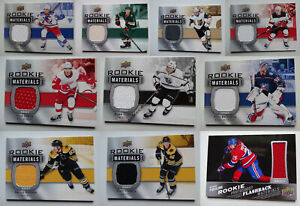 2019-20-Upper-Deck-Rookie-Materials-Jersey-Relic-Hockey-Cards-U-Pick-From-List