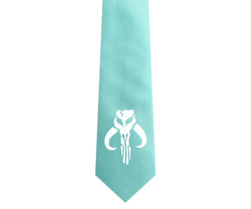 Star Wars Mandalorian Boba Fett Logo Men 6.5 cm Slim Groom Tie Necktie L45