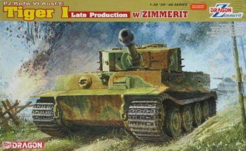 Dragon 1//35 6383 Tiger I Late Production w//Zimmerit Pz.Kpfw.VI Ausf.E kit ◆