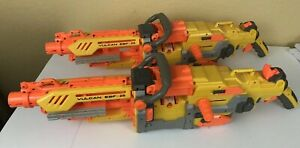 Lot-Of-2-NERF-Vulcan-EBF-25-Machine-Guns-AS-IS-For-Parts-Or-Repair-UNTESTED