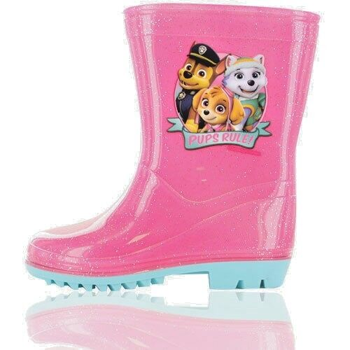 Nickelodeon Paw Patrol Childrens Wellington Boots Wellies Girls Pink Size 5-10