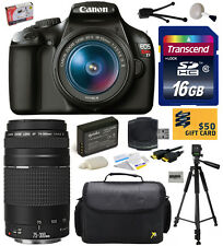 Canon EOS Rebel T3 1100D DSLR Camera 18-55mm + 75-300mm Lens (Best Value Bundle)