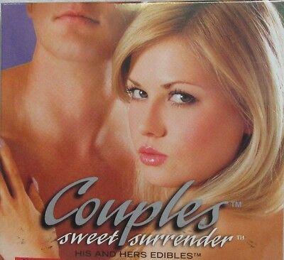 "Intimates & Sleep 3pz Coppia Sweet Surrender "" His & Hers "" Edibile Undies & Reggiseno Pina Colada Dependable Performance"