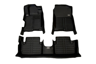 Largest Coverage All Weather The Ultimate Winter Mats Full Set - Black Also Look Great in the Summer./The Best/Honda Accord Accessory. Waterproof TuxMat Custom Car Floor Mats for Honda Accord 2013-2017 Models/- Laser Measured