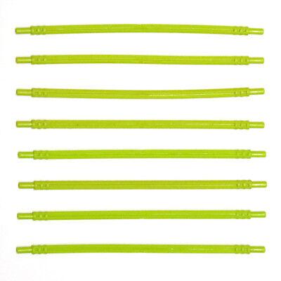 Lego Technic Bright Green 1x16 Flexible Rubber Axles Rods x8-32202 6149976 NEW