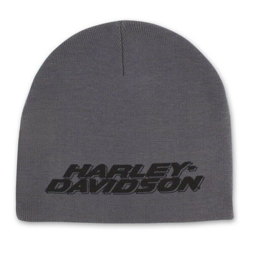 Gray Harley-Davidson beanie with black text