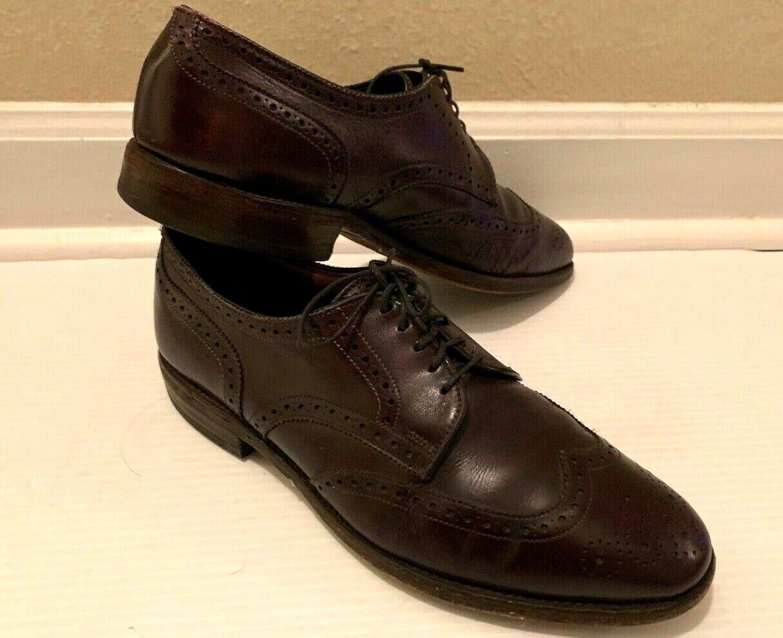 Allen Edmonds brown leather Mens shoes Sz 9