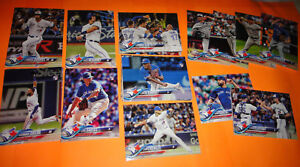 TORONTO-BLUE-JAYS-COMPLETE-TEAM-SETS-2017-amp-2018-TOPPS-SERIES-1-2-AND-UPDATE