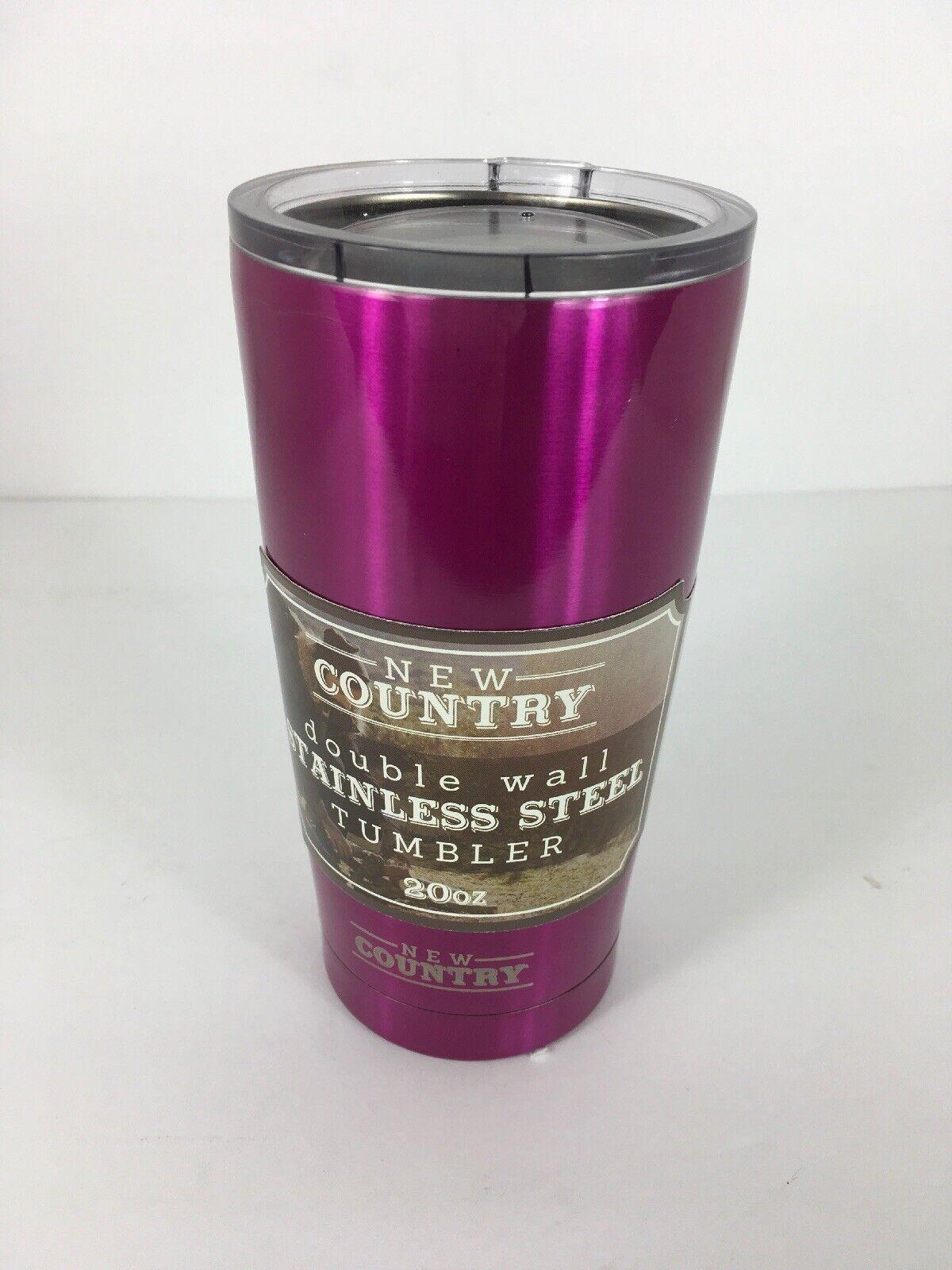 Nouveau pays double paroi isolation sous vide en acier inoxydable Tumbler violet 20 oz (environ 566.98 g)