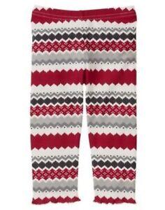 New Gymboree fleece gray pants girls 6-12m  Penguin Chalet