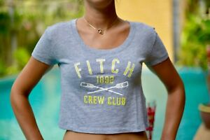 Women-039-s-Abercrombie-amp-And-Fitch-1892-CREW-CLUB-GREY-SIZE-XS