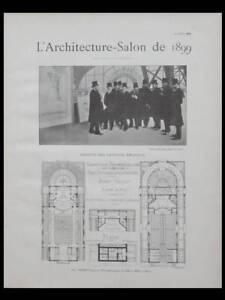 Bon CœUr L'architecture - Salon 1899- Caserne Pompiers Montmartre Paris, Guyon,st Maurice